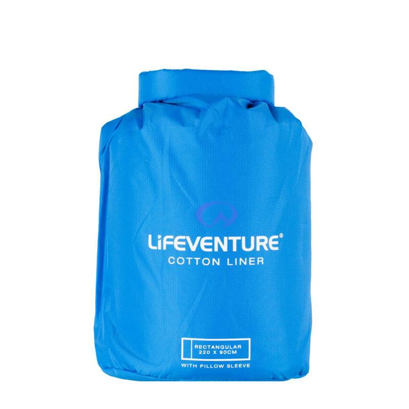 Lifeventure Rectangular Cotton Sleeping Bag Liner
