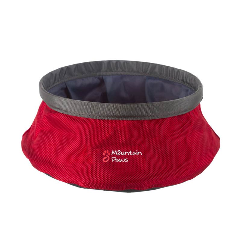 Mountain Paws Collapsible Water Bowl Large Red