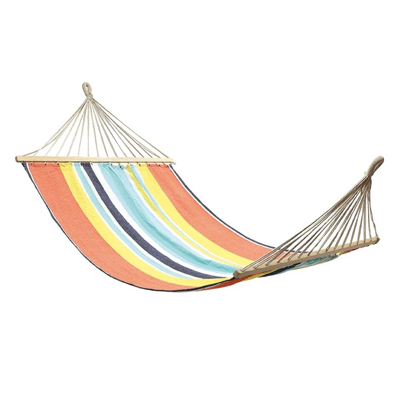 OZtrail Anywhere Hammock Double With Timber Rails 200kg Red
