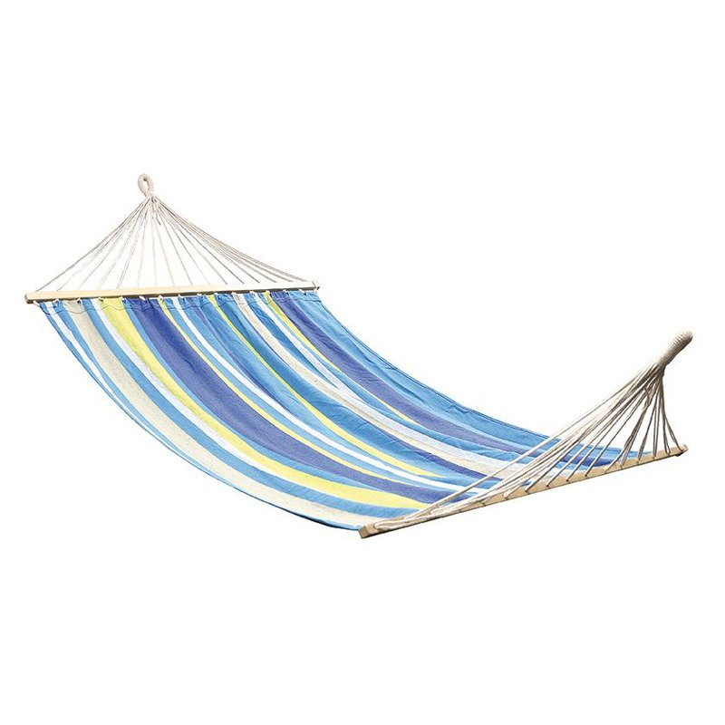 OZtrail Anywhere Hammock Double With Timber Rails 200kg Blue