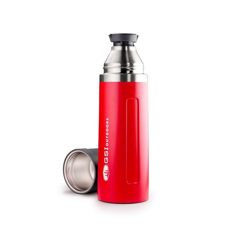 GSI Outdoors Glacier Stainless 1L Vacuum Bottle Red