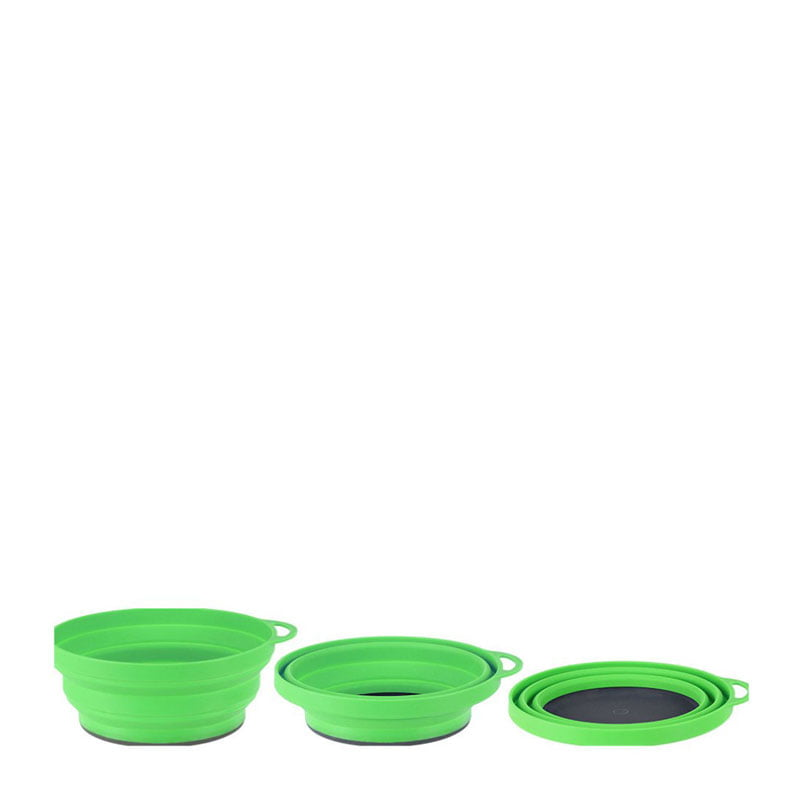 Lifeventure Ellipse Collapsible Bowl - Green
