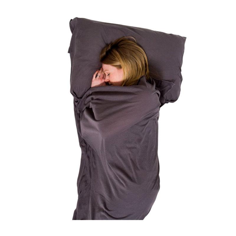 Lifeventure Rectangular Cotton Stretch Sleeping Bag Liner